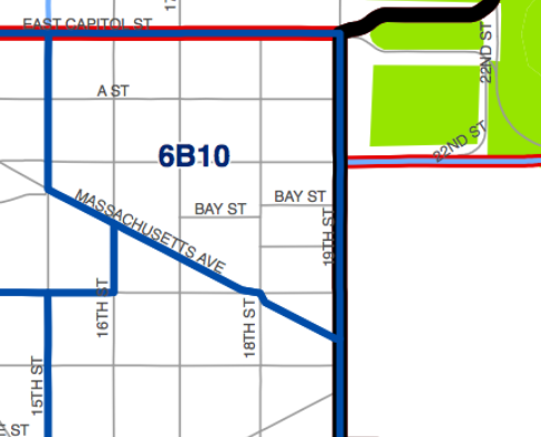 Detail of ANC 6B official map, highlighting ANC 6B10